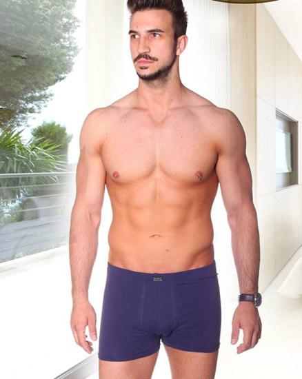 Férfi boxeralsó - sztreccs - rövidszárú - sötétkék
