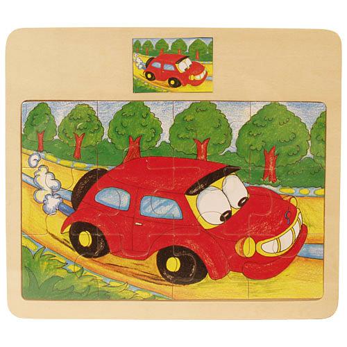 12 db-os autós puzzle
