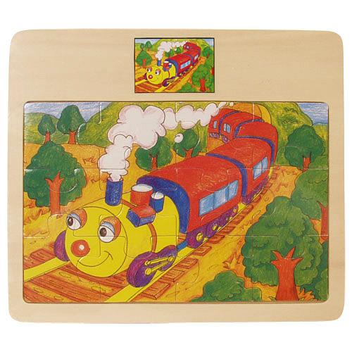 12 db-os mozdonyos puzzle