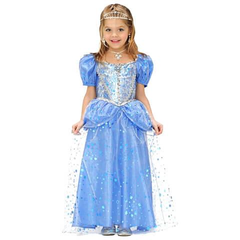 Hercegnő jelmez - kék - 128 méret - JS-68986 - ef8f917f60