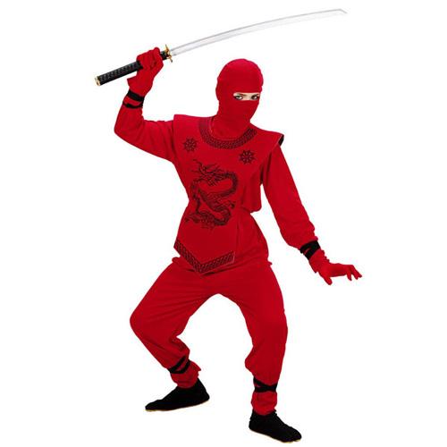 8bf70fef54 Ninja jelmez - piros - 140 méret