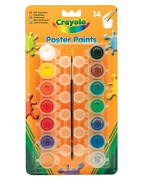 Crayola lemosható tempera - 14 db-os