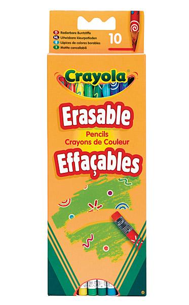 Crayola radírozható színes ceruza - 10 db-os