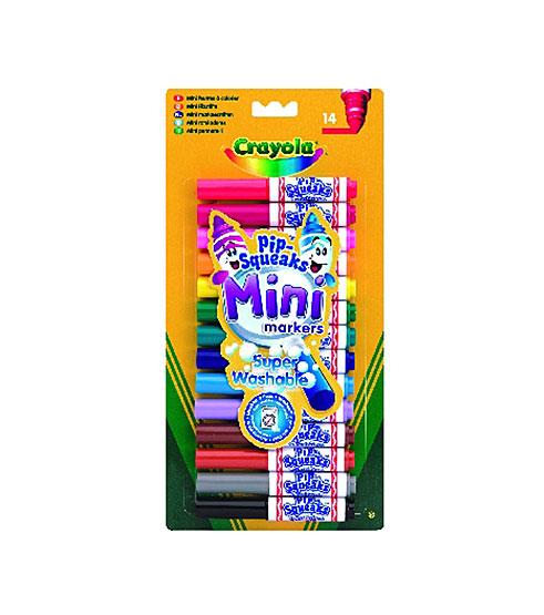 Crayola Vastag lemosható mini filctoll - 14 darabos