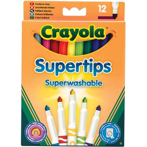Crayola vékony lemosható filctoll - 12 darabos