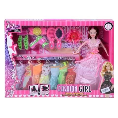 Fashion Girl nagy baba szett - ruhákkal és kiegészítőkkel - JS ... 60334ea46cd10