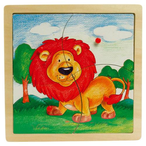 Fogantyús 4 db-os oroszlános puzzle