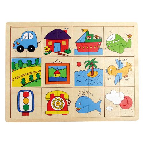 Járműves felező puzzle