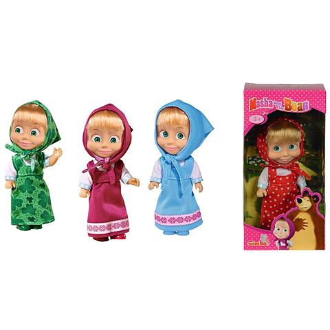 Mása és a medve  Mása baba színes ruhában - Simba Toys 9233628def