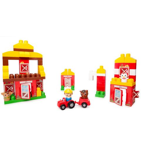Mega Bloks Barátságos farm építőjáték - 70 darabos