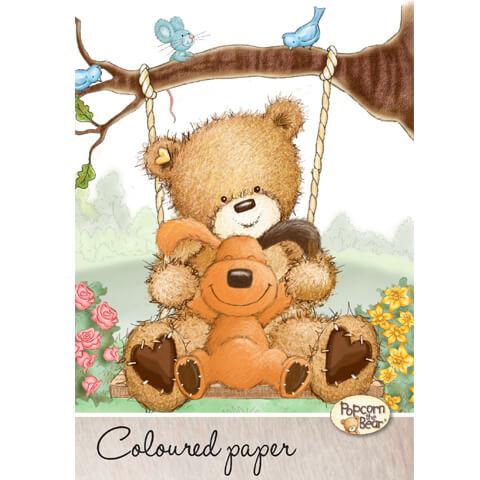 Popcorn Bear mappa színes papírokkal - A4 - 20 lapos 7fbb3b6001