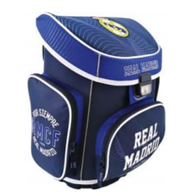c011a9d7e88c Real Madrid ergonomikus iskolatáska - kék/fehér