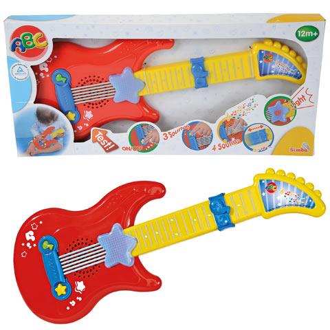 Simba ABC bébi gitár hanggal - piros-sárga