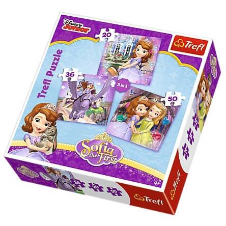 Szófia Hercegnő 3 az 1-ben puzzle - Trefl