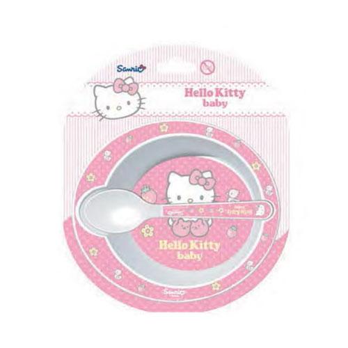 12addfca0c Hello Kitty bébi szett - mélytányér és kanál - Q673324 -