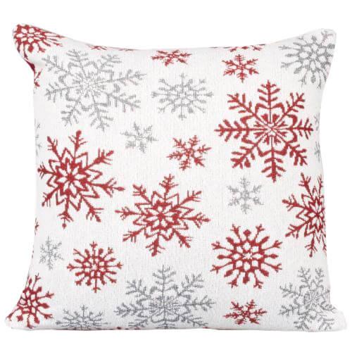 Karácsonyi párnahuzat - fehér jégvirágos 0482703493