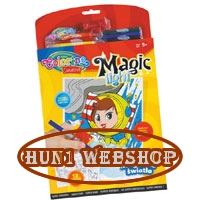 Colorino Creative  MAGIC LIGHT Kifest�k�nyv UV l�mp�val �s 6 db filctollal